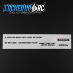 Locked UP RC Scale Decal Pack #3