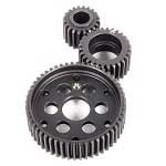 Axial metal transmission gears - complete steel gear set - 3 PCS