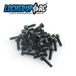 M2 x 7 socket head screws  (30) black