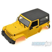 Xtra Speed 1/10 Plastic Hardtop Scale Crawler Hard Body (Yellow) (275mm)