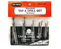 10pc Standard Tap & Drill Set - 2-56 to 10-32