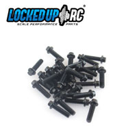 M2 x 7mm Scale Hex Bolts (30) Black