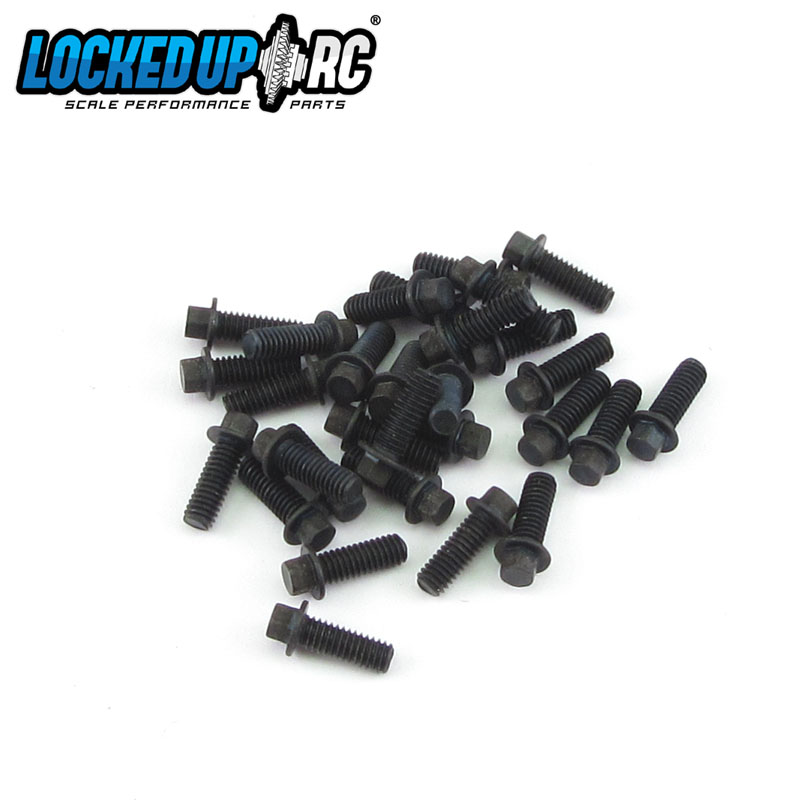 M2.5 x 7mm Scale Hex Bolts (30) Black