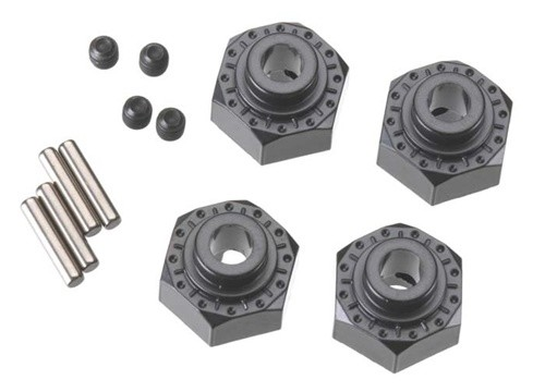 Axial Aluminum Hex Hub 12mm Black (4)