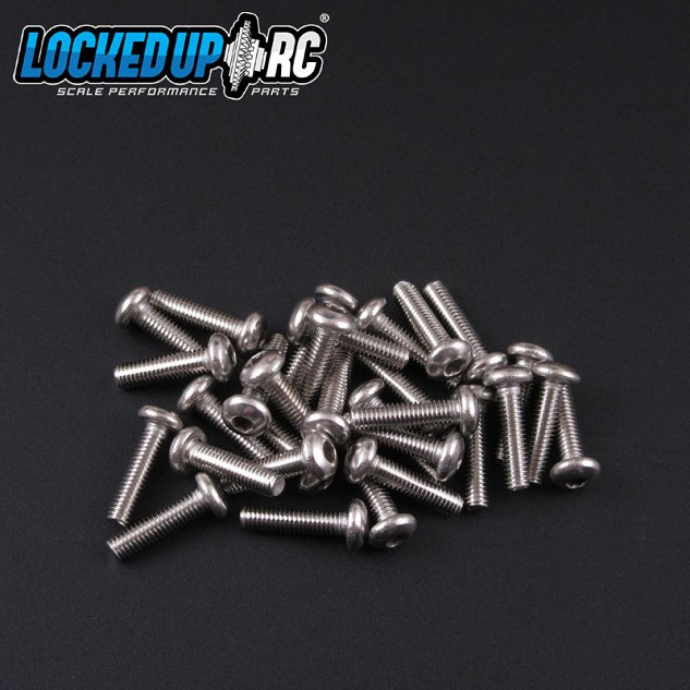 M3x12 Button Head Screw SS (30)