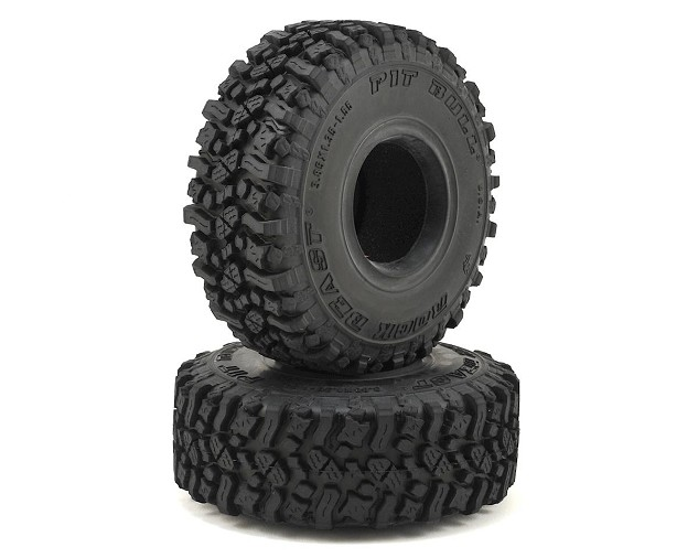 Pit Bull Tires Rock Beast 1.55' Scale Rock Crawler Tires w/Foams (2) (Alien)